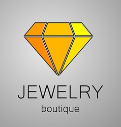 Jewelry boutique sign logo vector