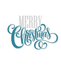 Merry christmas handwritten text vector