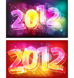 2012 on neon background vector