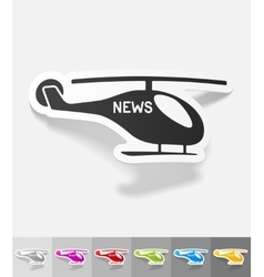 Realistic design element news helicopter vector