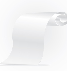 Blank roll of paper vector