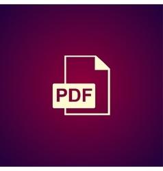 PDF icon Flat design style vector image