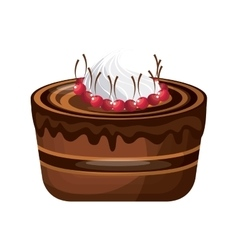 Cake icon bakery design graphic vector
