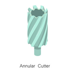 Annular cutter bit icon isometric 3d style vector