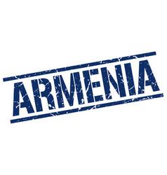 Armenia blue square stamp vector