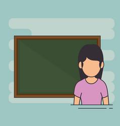 avatar school teacher at the chalkboard vector image
