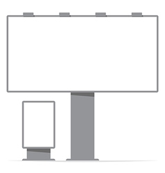 billboard board and citylight screen contour vector image