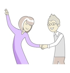 Business Partners at the Party Dancing vector image