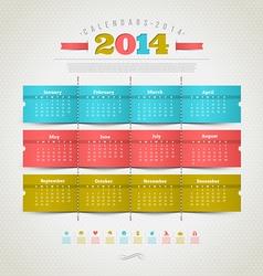 Calendar of 2014 year vector