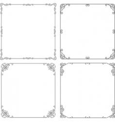 elegant frame vector image vector image