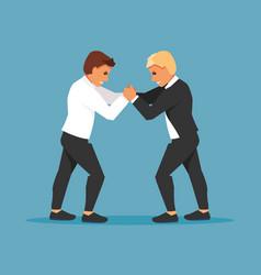 fighting businessmen vector image