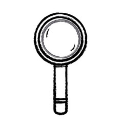 figure magnifying glass tool object design vector image vector image