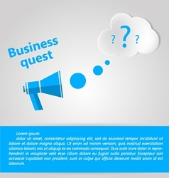 Flat for business quest vector