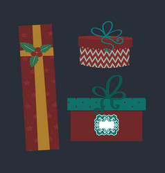 gift box isolated present vector image