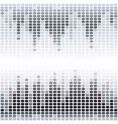 Grey and black digital equalizer on white vector image