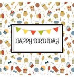 Happy Birthday greeting card Cute birthday vector image