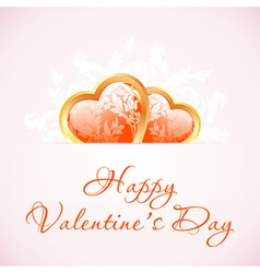 Happy Valentines Day Floral Background vector image