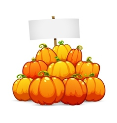 Heap of halloween pumpkins vector