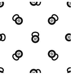Kettlebell 32 kg pattern seamless black vector