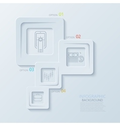 modern creative infographics with thin line vector image
