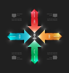 Modern infographics workflow arrows diagram vector