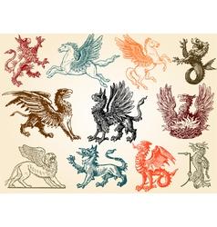 Mythical animals vector