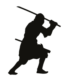 Ninja Warriors Theme vector image vector image
