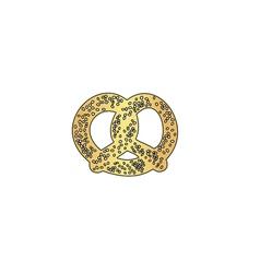 Pretzel computer symbol vector