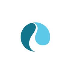r letter river logo template vector image