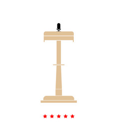 rostrum with one microphone it is icon vector image vector image