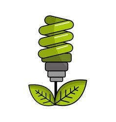 saving planet bulbs icon vector image vector image