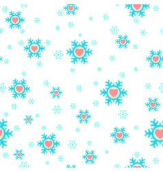 seamless Christmas background with snowflakes and vector image vector image