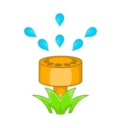Sprinkler icon in cartoon style vector