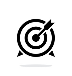 Target with arrow icon on white background vector
