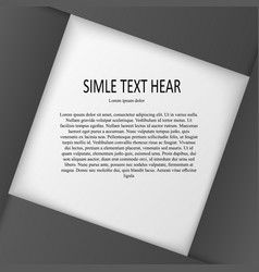 Text gray in frame vector