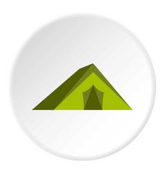 Tourist tent icon circle vector