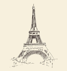 Tower paris france architecture vintage vector