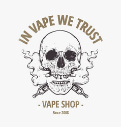 vaping skull art vector image