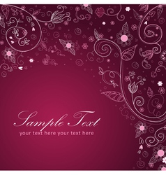 Floral twirl postcard lilac vector image