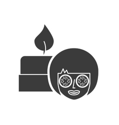 Spa relax service isolated icon vector