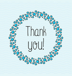 Concept thank you with bubbles for web site vector
