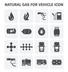 Natural gas icon vector