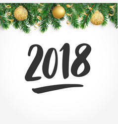 2018 hand drawn numbers fiesta border with fir vector