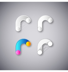 Abstract combination of letter r vector