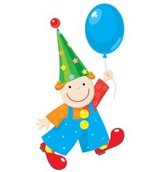 Clown with balloon vector