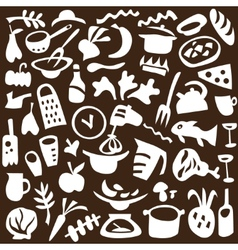 Food cookery icons vector