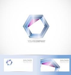 Hexagon logo vector image