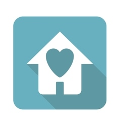 Square beloved house icon vector