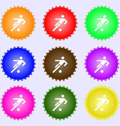 Football player icon a set of nine different vector