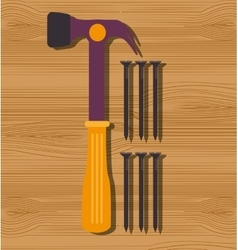 Construction repair tools graphic vector